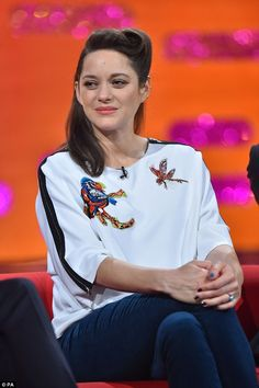 Naughty: Speaking on the Graham Norton Show, Marion Cotillard, 41, revealed that when working on a film with her partner they began to set each other their own tasks and challenges