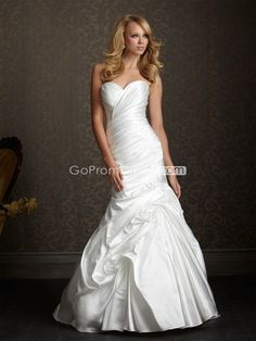 Mermaid tafetta wedding dress