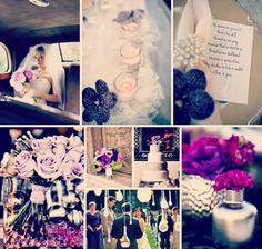 Purple and Gray Centerpieces   Purple and Grey Wedding Colours/Theme