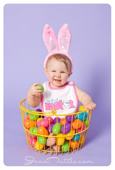 Easter Session-Such a cute idea for the infant room to do! Which I am totally doing!