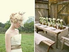 burlap and lace - I like the table set up