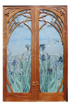 Art Nouveau doors after Eugene Gaillard - Apr 07, 2018 | Red Baron Antiques in GA
