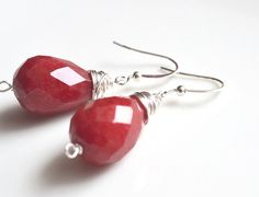'Red Jade Fancy Earrings' is going up for auction at  6am Sat, Jun 9 with a starting bid of 6 bucks