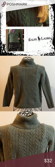 Polo Ralph Lauren women's cable knit wool sweater POLO for Women Polo Ralph Lauren women's cable-knit sweater, made from a sumptuous Italian merino wool Size L please see photo for measurements gently used condition logo on front super soft and comfy Lauren Ralph Lauren Sweaters