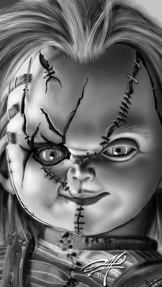 One Of My Favorite Horror Icons in 2019 Horror Movie Tattoos, Horror Movie Characters, Horror Movies, Arte Horror, Horror Art, Chucky Tattoo, Chucky Movies, Desenhos Halloween, Horror Drawing