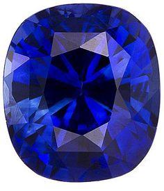 Blue Sapphire Loose Gemstone, Cushion Cut, 5.9 x 5.2 mm, 1.16 Carats at BitCoin Gems