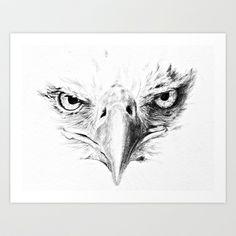 Eagle Art Print by Anna Shell - $14.56