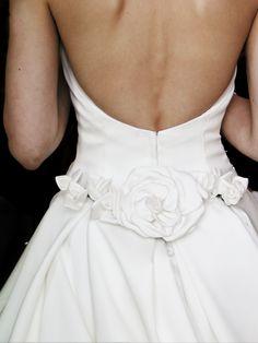 floral waist detail at back