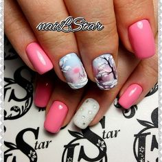 "890 Likes, 2 Comments - Маникюр Гель-лак Наращивание (@nails_journal) on Instagram: ""Автор @starkova_ludmila #nails #nail #дизайнногтей #nailart #руки #crystalpixie #naildesign…"""