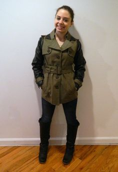 Trench coat and pleather coat UPcycled!
