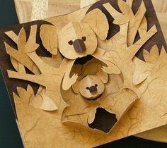 Kirigami Koala Popup Card Make Yourself by popupcardmaking on Etsy, $3.95