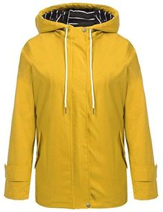 online shopping for Hount Women Lightweight Waterproof Hooded Raincoat Jacket Solid Jacket Poncho from top store. See new offer for Hount Women Lightweight Waterproof Hooded Raincoat Jacket Solid Jacket Poncho Raincoat Jacket, Yellow Raincoat, Hooded Raincoat, Vest Jacket, Hooded Jacket, Long Raincoat, Best Rain Jacket, North Face Rain Jacket, Windbreaker