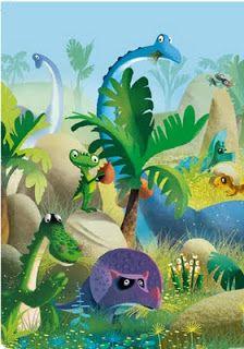 dankerleroux: Une Histoire de dinosaures Dragons, Art Disney, Paint Party, Children's Book Illustration, Animal Party, Cute Icons, Illustrators, Art For Kids, Dinosaur Stuffed Animal