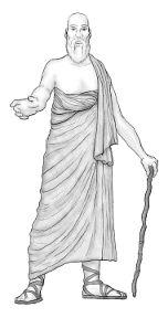 El himation era un rectángulo de lana que se envolvía al rededor del torso y se sujetaba en el hombro izquierdo