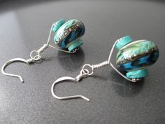 Beadsong Jewelry lampwork and sterling earrings (soup from Nancy Dale)