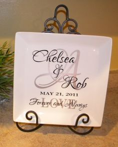 Personalized Keepsake Plate
