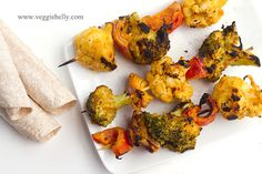 Tandoori Grilled Broccoli and Cauliflower Kebabs | 38 Grilling Recipes That Will Make You Want To Be Vegetarian