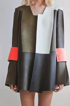 Meet Finland's Rising Fashion Stars - finnish-fashion-9-Wmag  I love how the designer turned a jacket/coat into a dress