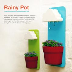 Rainy-Pot Cloud Sprinkler (This is supposed to be a DIY, but I CANNOT find any link to an actual tutorial. This site at least breaks down the components which may be enough for me to recreate...)