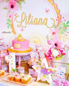 Opulent Treasures ( Pink Cake Stands Such a sweet classic princess theme set-up with a Fresh Vibe! Sweet 16 Birthday, 6th Birthday Parties, Birthday Ideas, Rainbow Birthday Invitations, Princess Theme Birthday, Round Cakes, Cake Stands, Pink, Party Ideas