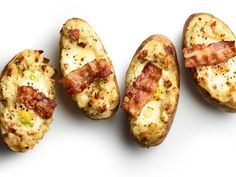 Twice-Baked Potatoes with Bacon and Eggs Recipe : Food Network Kitchen : Food Network - FoodNetwork.com