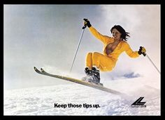Keep those Tips Up - I raced with Lange boots for years - great old school find ha