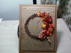 Thank you card could also be Thanksgiving or just Autumn greetings.  SueBeeCards.Susan Bagley