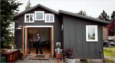 From defunct garage to tiny dream home. Check out the link to view the interior photos.