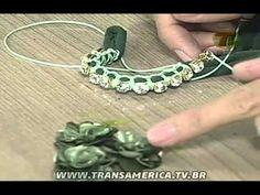Tv Transamerica - Pulsera de macramé y el pendiente con viscolycra - YouTube