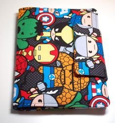 Crayon Wallet made from Marvel Comics Fabric by BusyBirdee on Etsy