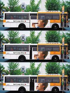 Just on bite (moving door) #bus #guerilla #advertising