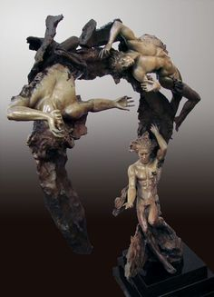 Bronze sculpture titled Spiral Nebulae by Ira Reines
