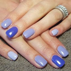 nails, accent nail, gelish, shellac, gellac, nail art, purple, lilac, ombre