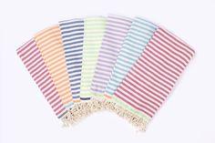 Beach Candy Swirl | Beach Towel | Striped Towel | Beach Wrap | Beach Sarong | Turkish-T   pinkberry with lime