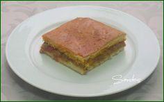 Ingredientes para la masa:     375 g de harina de fuerza   15 g de levadura de panadería   20 g de agua tibia   120 g de huevo (2 tamañ...