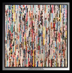 Tableau de Tehos acrylique et marouflage sur toile 10*100 cm - Opus 09  Tehos painting - acrylic and collage on canvas 100*100 cm - Opus 09 #art