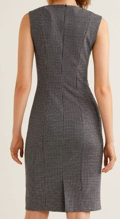 Work wear dress with shoulder darts Simple Dresses, Cute Dresses, Beautiful Dresses, Casual Dresses, Short Dresses, Casual Outfits, Dresses For Work, Dress Outfits, Fashion Dresses