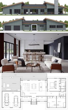 Modern House Plan The post House Plan 2019 appeared first on Architecture Decor. Beach House Plans, New House Plans, Dream House Plans, Modern House Plans, Small House Plans, Modern House Design, House Floor Plans, Modern Architecture House, Plans Architecture