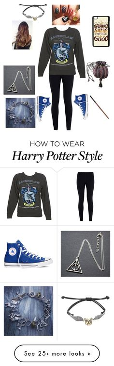 """Off to Harry Potter World"" by lukehemmingspenguin13 on Polyvore featuring NIKE, Converse, women's clothing, women, female, woman, misses and juniors"