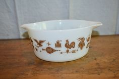 SalePyrex CASSEROLE Dish EARLY AMERICAN by GottaBuyVintage on Etsy