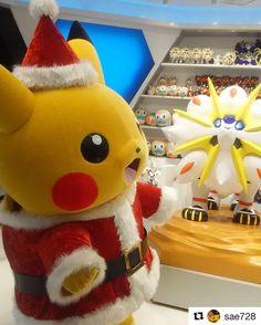 クリスマス特集 みんなが投稿したピカチュウクリスマスの写真を紹介するよ #Repost @sae728  トナカイの代わりにソルガレオで出発 #ピカチュウ #pikachu #pikachu_Christmas #ポケセン #pikachu #pokemon #pokemongo #pikachulover #pokemontrainer #pkmn #pokeball #pokemonsunandmoon #kawaii #pokemony