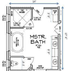 8x11 master bath - google search | bathroom layout plans