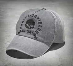 Men's Washed Canvas Skull Stretch Baseball Cap Harley Davidson Gear, Harley Gear, Harley Davidson Motorcycles, Bottom Fishing, Biker Accessories, Stock Options, Mesh Cap, Fitted Caps, Logos