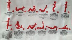 Mini, at home Pure Barre workout. 60 seconds each.