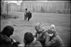 Republic square during the revolution, Bucharest, Romania, 1989 - Leonard Freed Timisoara Romania, Bucharest Romania, Leonard Freed, Romanian Revolution, 1 Film, Magnum Photos, Capital City, The Past, In This Moment