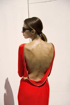 TOM FORD zipper-back gown in crepe