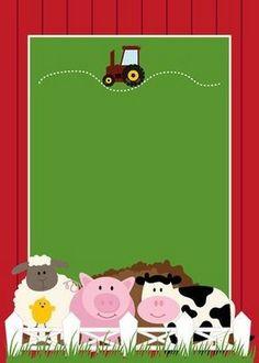 Free Printable Farm Party Invitations, Labels or Cards. Farm Animal Party, Farm Animal Birthday, Barnyard Party, Farm Birthday, 2nd Birthday Parties, Farm Party Invitations, Birthday Invitation Templates, Party Kit, Farm Theme
