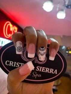 Ideas Manicure Sencillo Mandalas For 2019 French Manicure Acrylic Nails, Fall Manicure, Manicure Colors, French Manicure Designs, French Nail Art, Gold Nails, Diy Nails, Cute Nails, Manicure Ideas