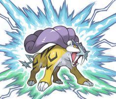 Raikou (art from Pokémon Ranger franchise). His sparks are a lot good tough