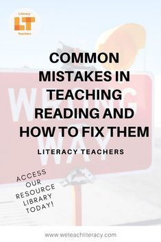 Common Mistakes in Teaching Reading & How To Fix Them Middle School Reading, Student Reading, Teaching Reading, Reading Comprehension Strategies, Teaching Strategies, Teacher Tools, Teacher Resources, Instructional Strategies, Instructional Technology